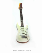 Guitarra mini Fender blanca
