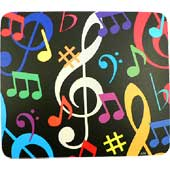 Mouse pad notas musicales